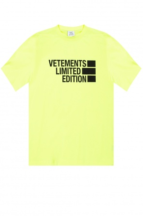 T-shirt with logo od Vetements