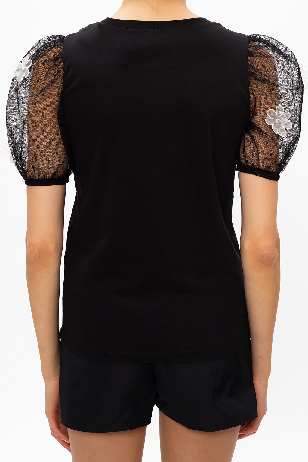 Red Valentino Top with tulle sleeves