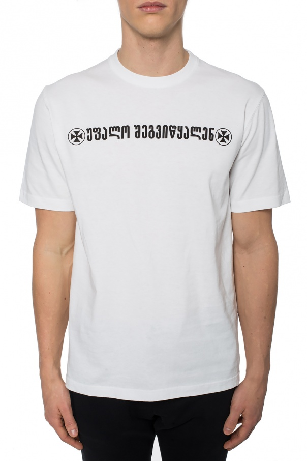 T-shirt z nadrukiem od Vetements