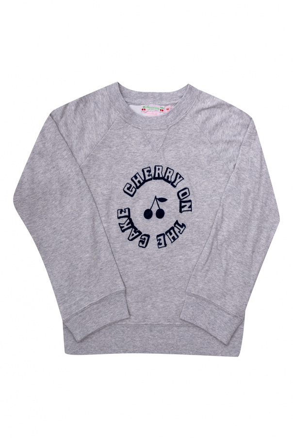 Bonpoint  T-shirt with velvet lettering