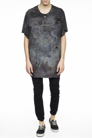 Oversize t-shirt with holes od Balmain