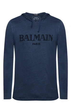 Hooded sweatshirt with logo od Balmain