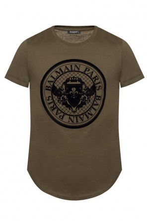 T-shirt with bulgy branding od Balmain