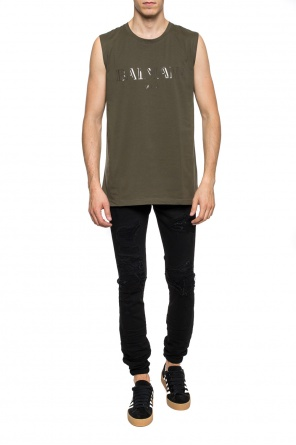 T-shirt with sheer branding od Balmain