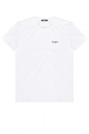 Logo t-shirt od Balmain