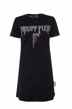 Long t-shirt with rips od Philipp Plein
