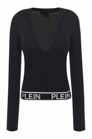 T-shirt with logo hemline od Philipp Plein