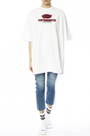 Oversize t-shirt with slits od Vetements