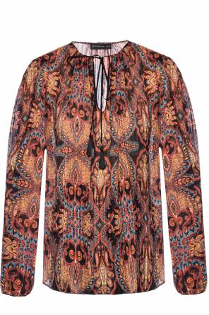 Top with an embroidered pattern od Etro