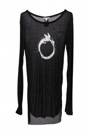 Long-sleeved printed top od Ann Demeulemeester Blanche