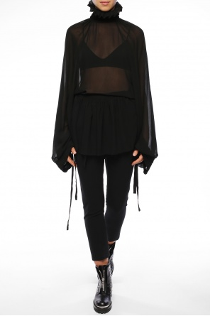Band collar oversize top od Ann Demeulemeester