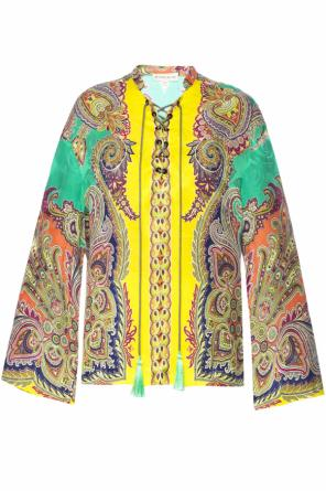 Shirt with drawstring od Etro