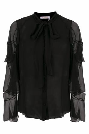 Lacing detail sheer top od Chloe