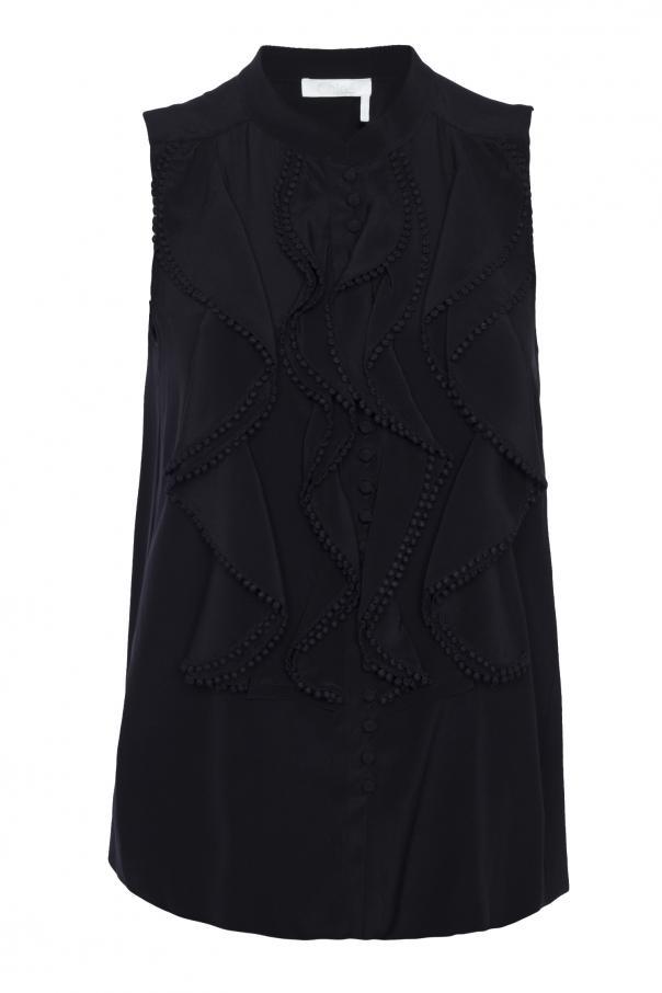 2b5aec02ad4 Ruffle sleeveless shirt Chloe - Vitkac shop online