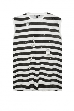 Patterned sleeveless t-shirt od Ann Demeulemeester