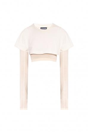 'le double t-shirt' crop top od Jacquemus