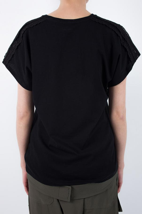 T-shirt z koronkĄ od Saint Laurent Paris