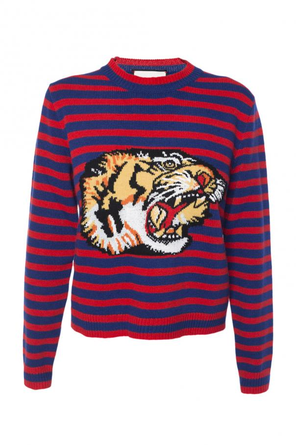 ad73f6a1 Striped sweater with tiger motif Gucci - Vitkac shop online
