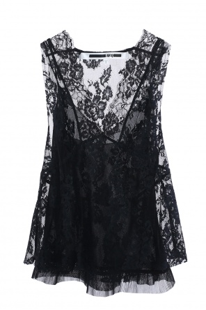 Sheer lace top od McQ Alexander McQueen