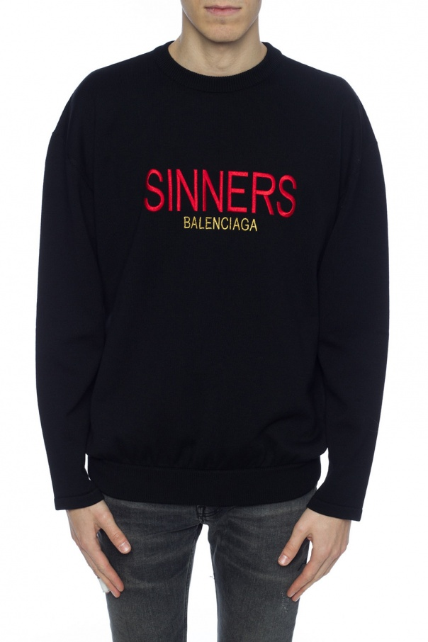Logo-appliqued sweater od Balenciaga