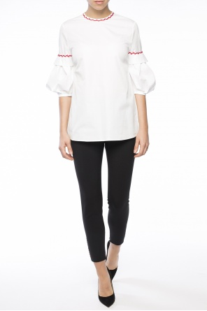 Appliqued top od Alexander McQueen
