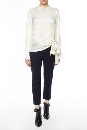 Lacing detail striped top od Stella McCartney
