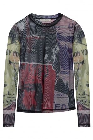 Patterned sheer t-shirt od McQ Alexander McQueen