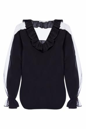 Ruffled sheer top od Stella McCartney