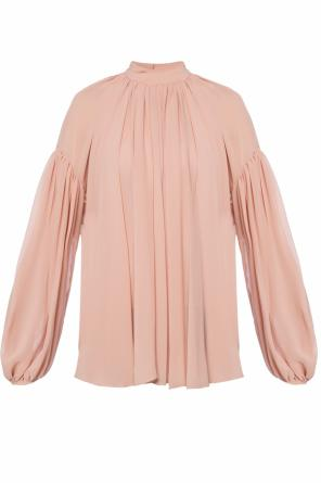 Ruffled silk top od Stella McCartney