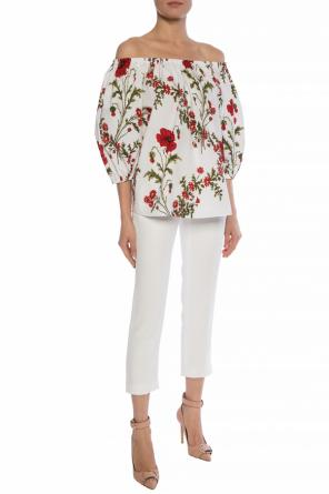Floral-printed top od Alexander McQueen