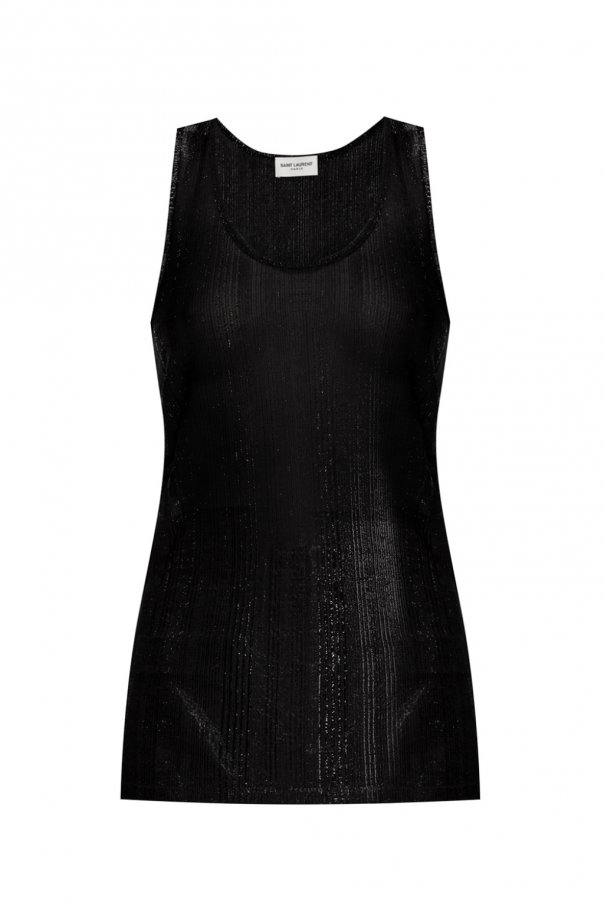 Saint Laurent Sheer sleeveless top