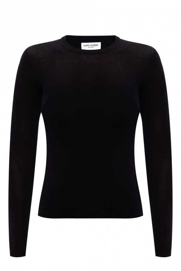 Saint Laurent Ribbed top