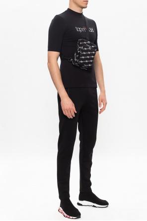 T-shirt z logo od Balenciaga