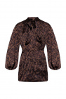 Balenciaga Patterned top with tie neck