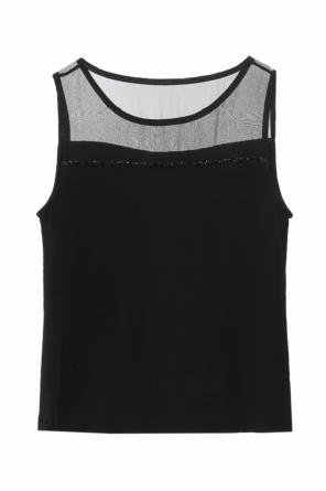 Sheer upper body top od Emporio Armani
