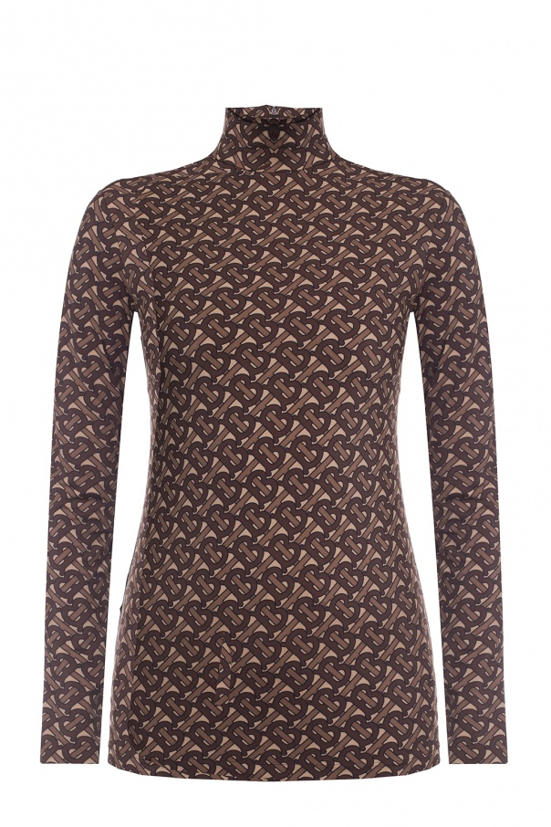 Burberry Patterned turtleneck sweater with logo