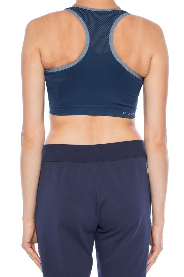 Logo-embroidered sports bra od EA7 Emporio Armani