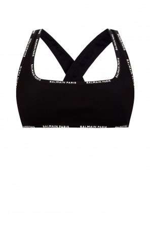 Sports bra with logo od Balmain