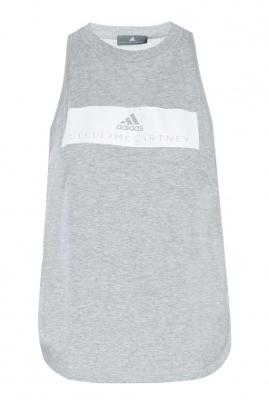Top z nadrukiem z logo od Adidas by Stella McCartney