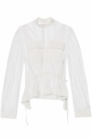 See-through top with ruffle od Chloe