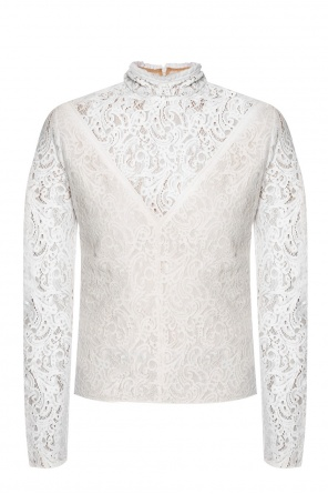 Openwork band collar top od Chloe