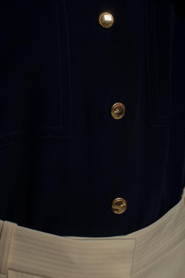 Silk top with pockets od Chloe