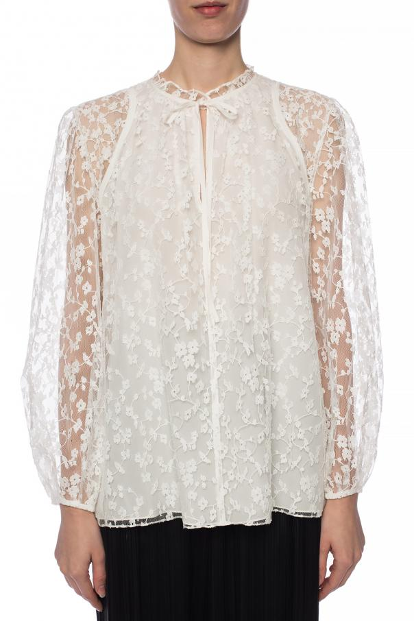 Tie-up lace top od Chloe