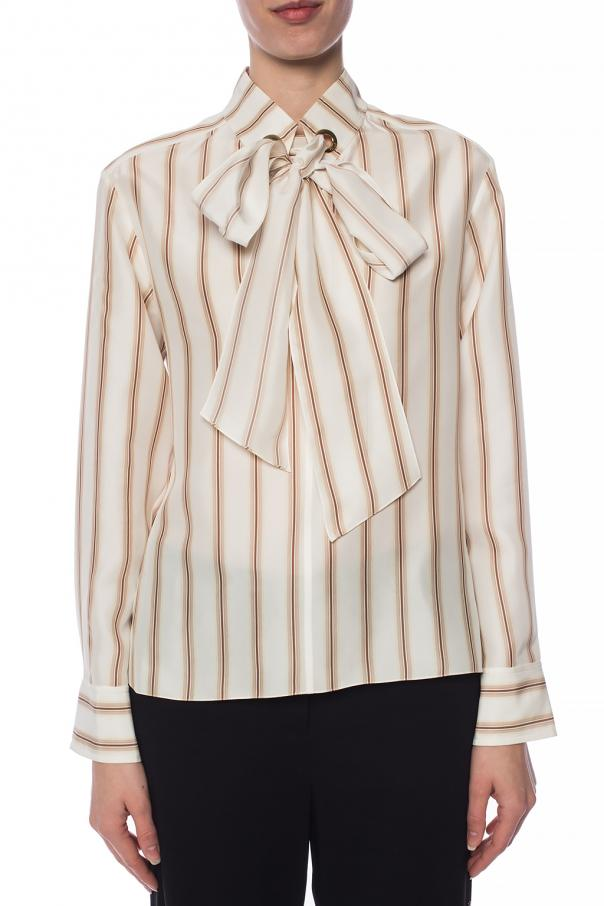 Silk shirt with tie fastening od Chloe