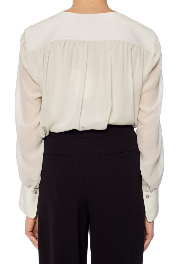 Lace-trimmed top od Chloe