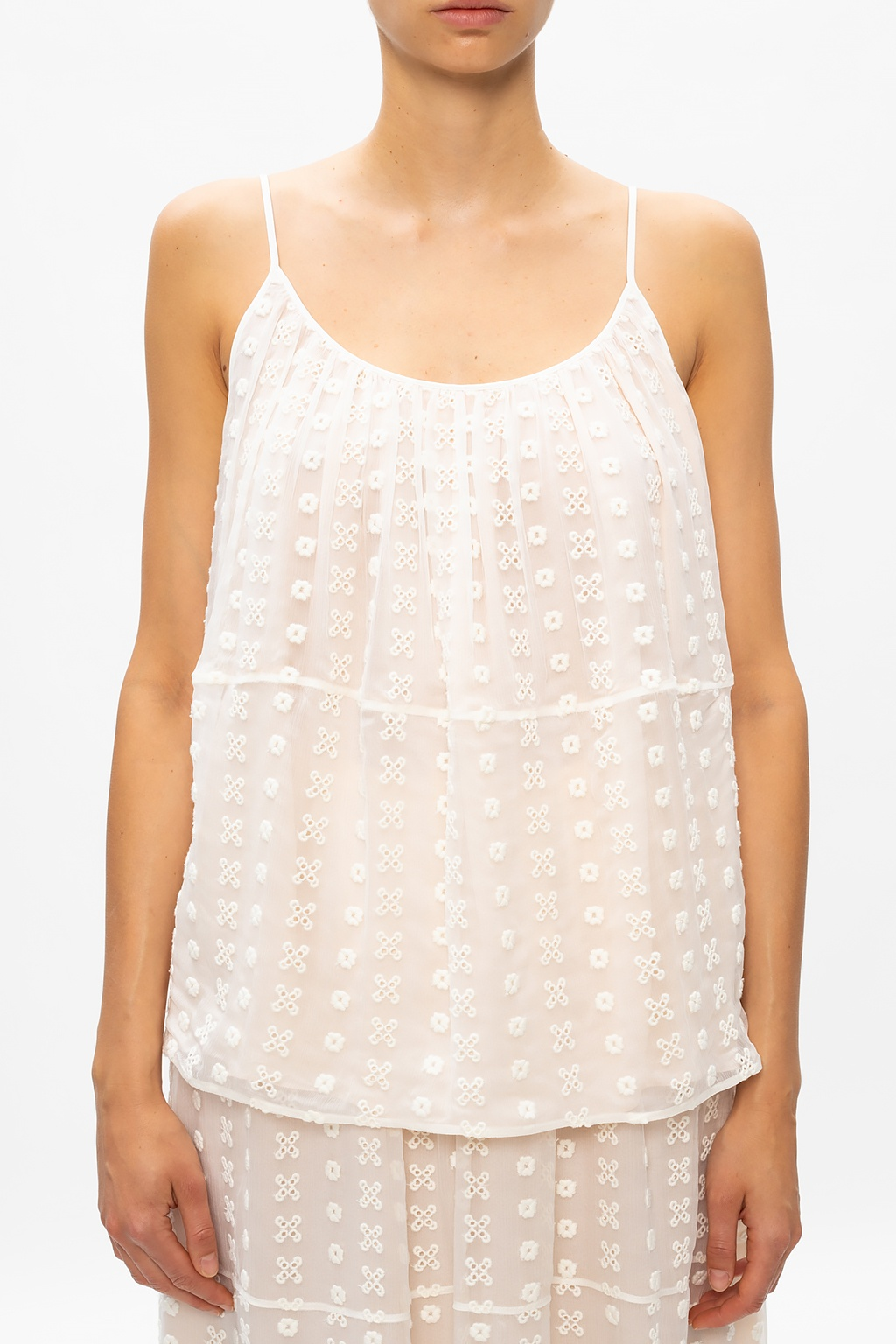 Chloé Slip top with openwork details