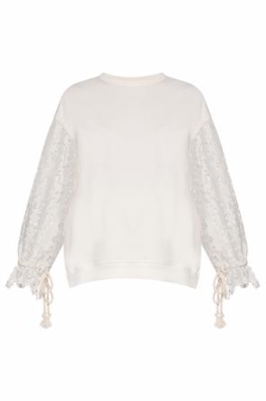 Sweatshirt with lace sleeves od See By Chloe