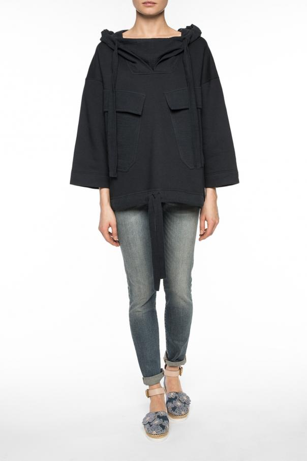 sweatshirt with flap pockets see by chloe vitkac shop online. Black Bedroom Furniture Sets. Home Design Ideas