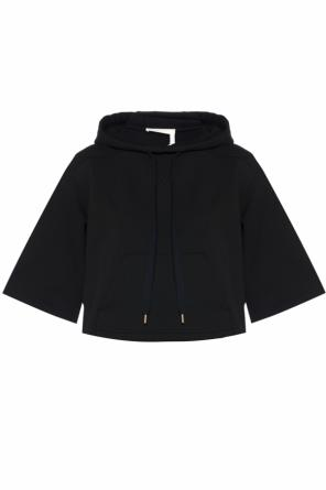 Cropped hooded sweatshirt od See By Chloe
