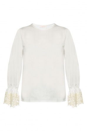Lace-trimmed top od See By Chloe